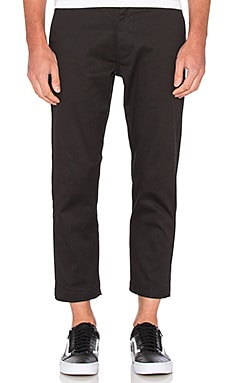 Obey Straggler Flooded Pants in Black