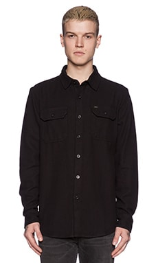 Obey Point Blank Button Down in Black