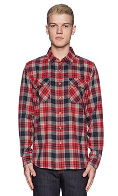 Obey Floyd Button Down in Red