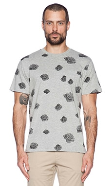 Obey Roses Pocket Tee in Grey Multi