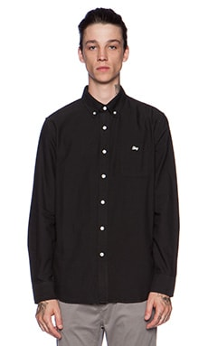 Obey Logan Button Down in Black