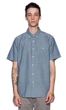 Obey Bower Button Down in Light Blue