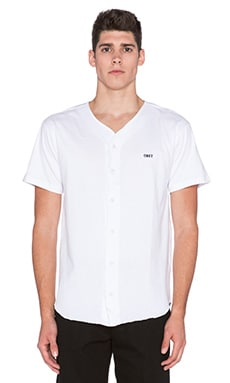 Obey Hartford Baseball Jersey in White