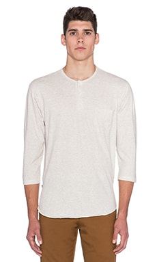 Obey Plaza Henley in Heather Natural