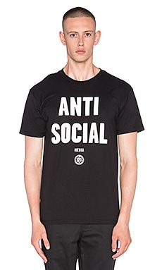Obey Anti-Social Media Tee in Black
