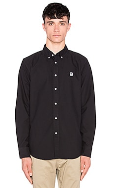 Obey Eighty Nine Long Sleeve Button Up in Black
