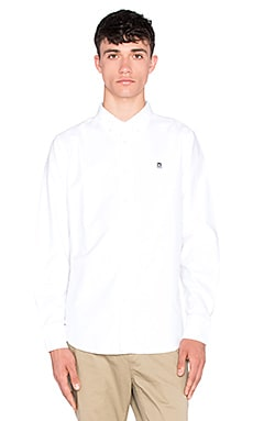 Obey Eighty Nine Long Sleeve Button Up in White