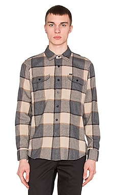 Obey Belmont Button Down in Charcoal Multi