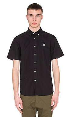 Obey Eighty Nine S/S Button Up in Black