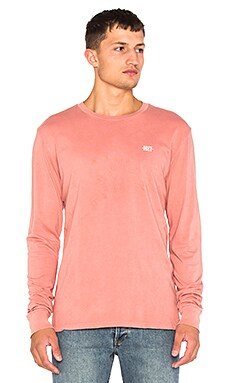 Obey New Times Micro L/S Tee in Rose