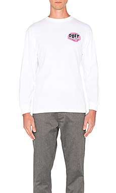 Obey Mind Control L/S Tee in White