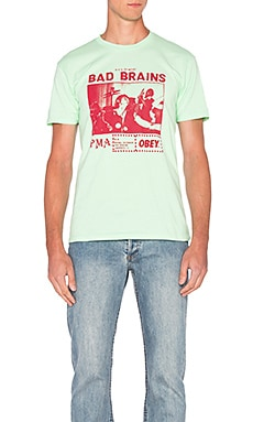 Obey Bad Brains PMA Photo Tee in Mint