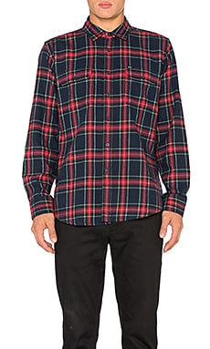Obey Highland Button Down in Red Multi