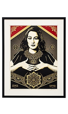 SU2C x Revolve Obey Signed Shepard Fairey Poster in Red