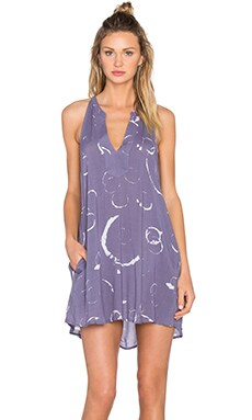 Obey Capricorn Dress in Blue Multi