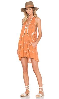 Capricorn Dress en Imprimé Abricot