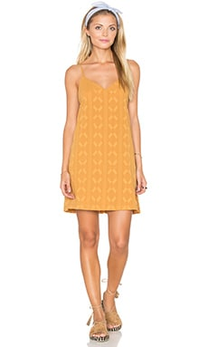 Obey Kellyn Dress in Mustard