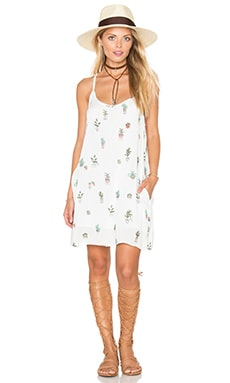 Paint Bloom Dress in White Multi