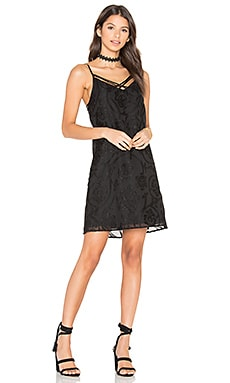 Amanda Slip Dress en Noir