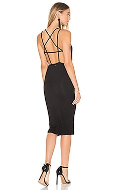 Joan Strap Back Dress in Black