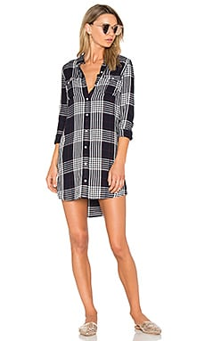 Chelsea Shirtdress in Navy Multi