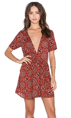 Obey Sofia Dress in Burgundy Multi