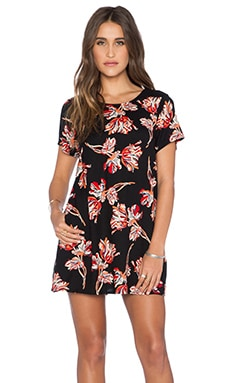 Obey Blythe Dress in Black Multi