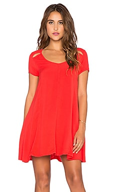 Obey Penelope Dress in Haute Red