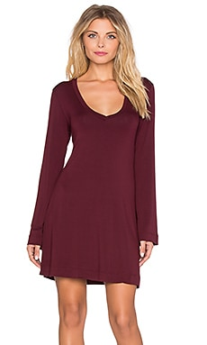 Obey Night Bird Dress in Zinfandel