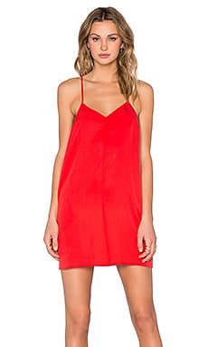 Obey Smith Slip Dress in Fiery Red