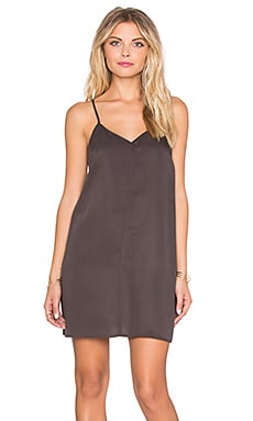 Obey Smith Slip Dress in Shark