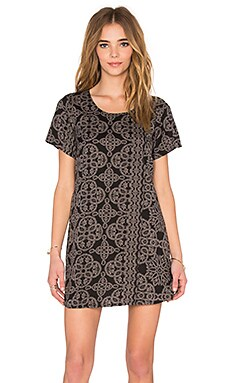 Obey Ursula Dress in Black Multi