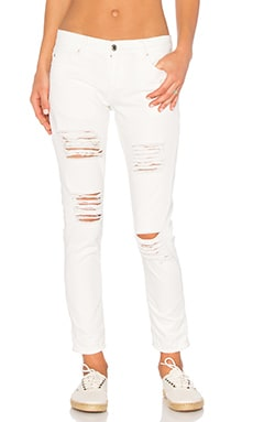 Ex-Boyfriend Denim Pant en Blanc Antique