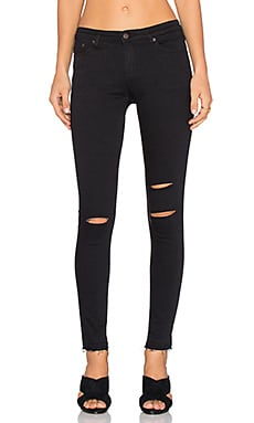 Obey Lean & Mean Classic Skinny in Black Slashed
