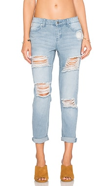 Obey Ex-Boyfriend Jean in Distressed Indigo
