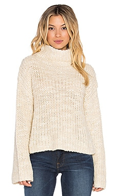 Alexa Crop Funnel Neck Sweater