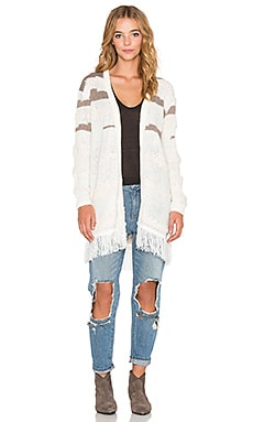 Obey Findon Sweater Cardigan in Cream