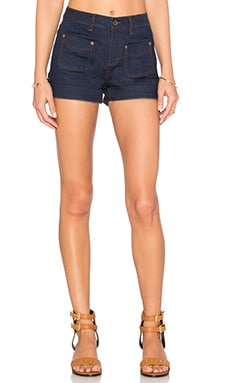 Obey Goldie Jean Short in Indigo