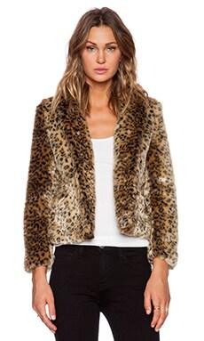 Obey Charlotte Faux Fur Jacket in Leopard