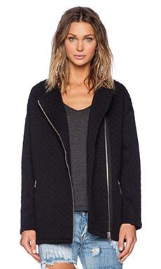 Obey Condor Quilted Zip Jacket in Black