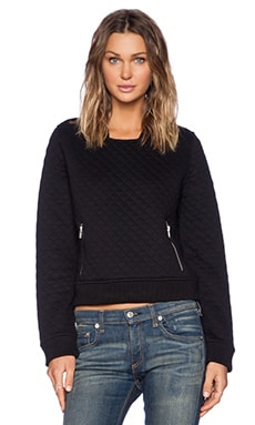 Obey Condor Quilted Pullover in Black