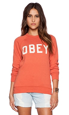 Obey Collegiate Obey 2 Crew in Ginger