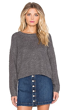 Obey Bianca Sweater in Heather Grey