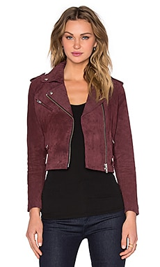 Obey City Moto Suede Jacket in Oxblood