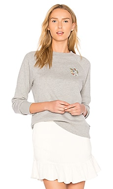 Flora Liberte Crew Neck Pullover in Light Heather Grey