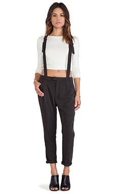 Obey Smith Suspender Pants in Black