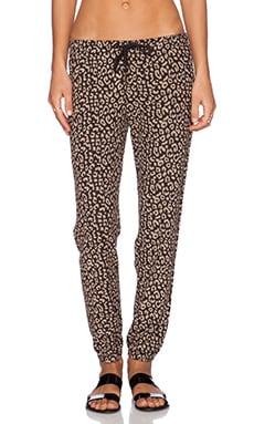 Obey Lola Sweatpant in Reverse Black Leopard