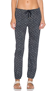Obey Lofty Lola Sweatpant in Black & Blue Multi