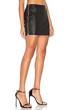 Billie Vegan Leather Skirt in Black