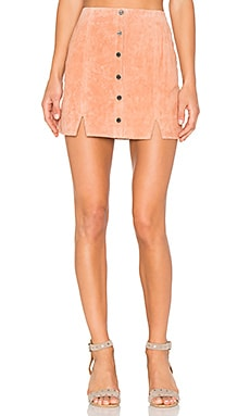 Soho Suede Skirt in Dusty Coral